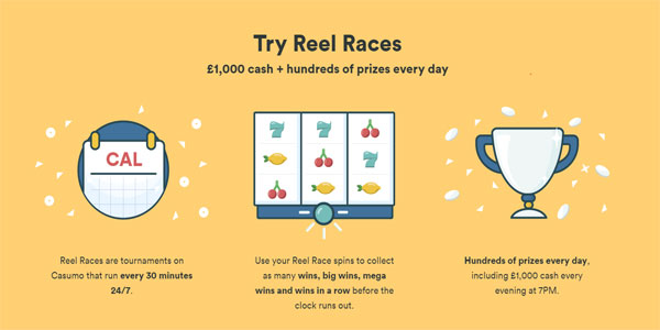 Daily cash prizes at Casumo Casino