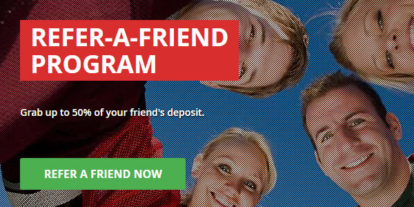 One of the Best Refer a Friend Promotions can be Found at Intertops!