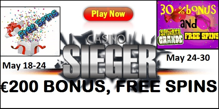 Casino Sieger Free Spins Hunt Week and Double-Treat Week Promo