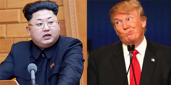 Jong Un and Donald Trump