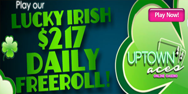 Join Lucky Irish 217 Daily Freeroll during March