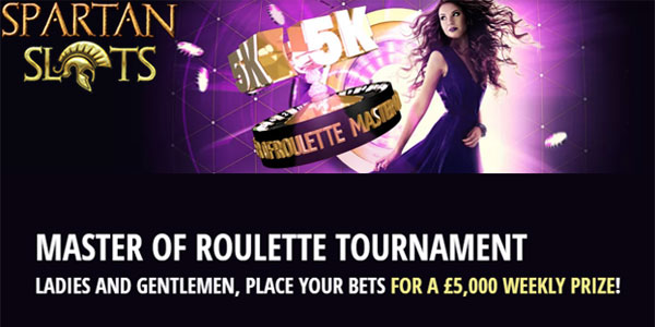 Spartan Slots weekly roulette tournament