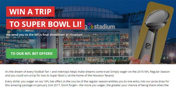 Win a free trip to the Superbowl