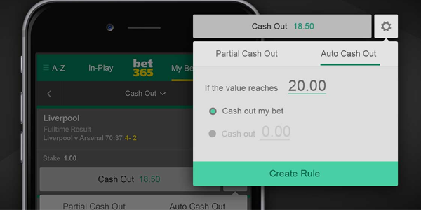 cash out betting bet365