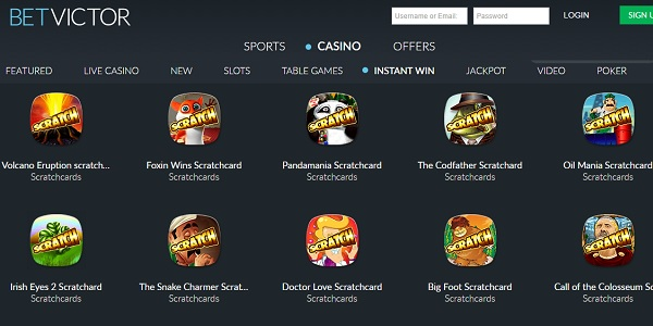 New Scratchcard Games at BetVictor Casino
