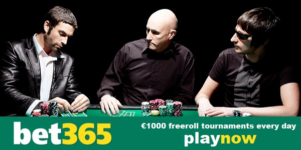 freeroll tournaments at bet365 poker!