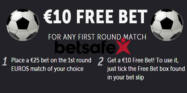 Free bet on the Euros at Betsafe!