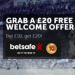 Get a £20 free bet with thanks to the Betsafe Sportsbook Welcome Offer