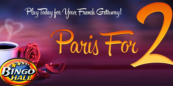 Bingo Hall wishes you good luck in its Valentine's French getaway promo