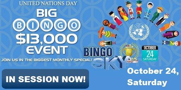 Bingo Sky United Nations Day Big Bingo promo