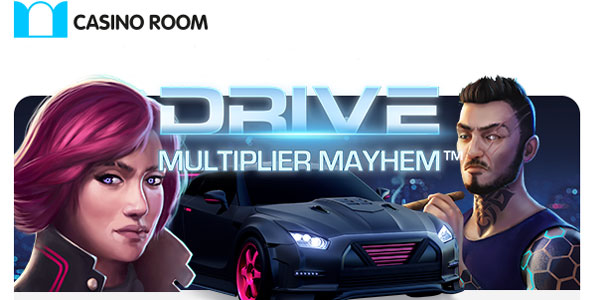 Pedal to the Metal at Casino Room! 20 Free Spins Bonus Code on the New Drive: Multiplier Mayhem!