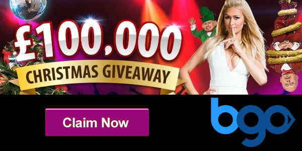 Receive up to £50,000 in the £100,000 Christmas Giveaway at Bgo Casino