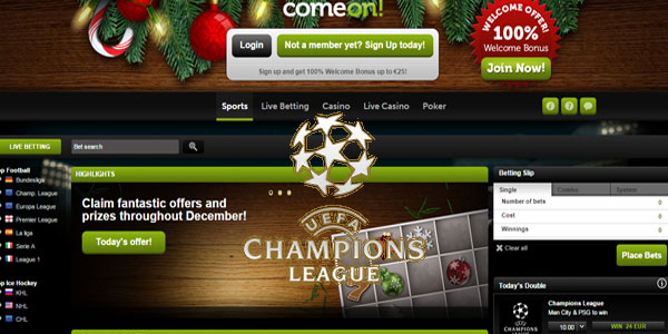 Come!On Sportsbook promo