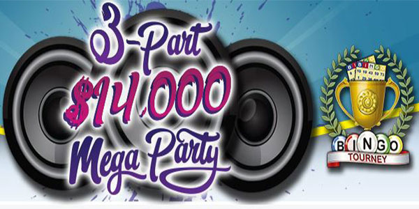 Bingo Tourney room at CyberBingo host to Tier-Party where you can win up to $10,000