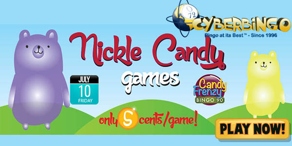 Pay Less and Play More Nickle Candy Games with CyberBingo