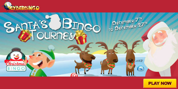 Join the Christmas Bingo Room at CyberBingo now and win $1,000!