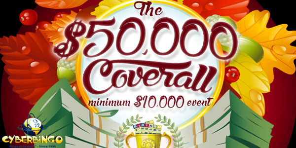 This Autumn it Rains Money at CyberBingo in the $50,000 Coverall