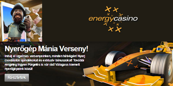 Energy Casino Weekend Slotmania Race promo