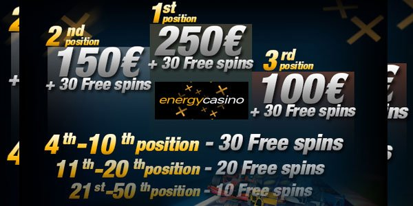 Claim Another EUR 250 at Energy Casino`s Slotmania Race