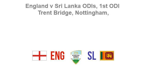 One Day International 2016 England Sri Lanka