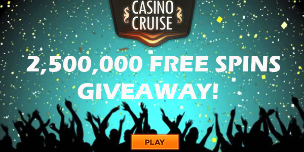 free spins giveaway at Casino Cruise