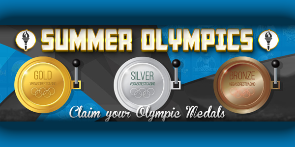 Vegas Crest Casino Olympic Medals promotion