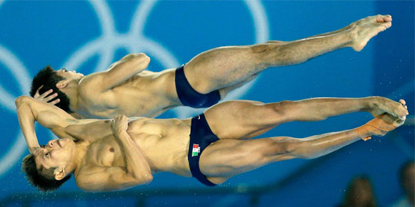 Mexican divers performing London2012