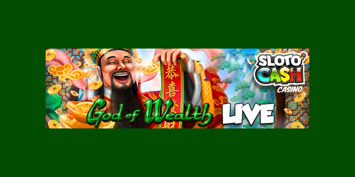Slotocash Casino God of Wealth slot promo