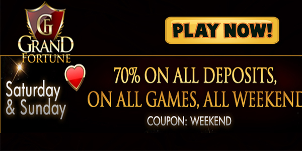 Improve Your Weekend with Awesome Prizes at  Grand Fortune Casino