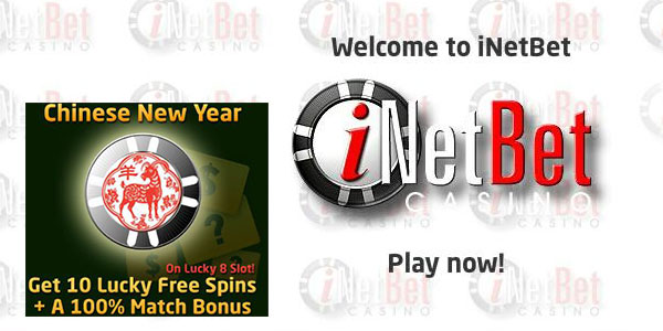 iNetBet Casino and win a 100% match bonus