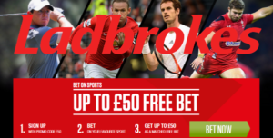 Join Ladbrokes Now and Get £50 with your Free Bets Promo Code!