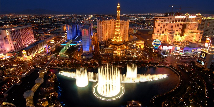 Las Vegas Night helicopter view