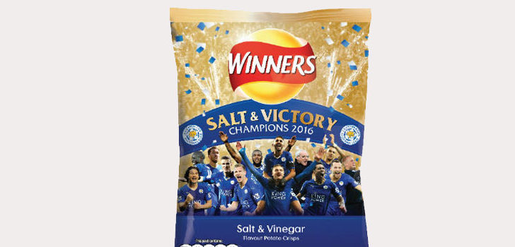 Leicester themed crisps