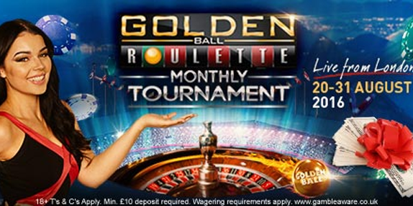 Golden Roulette Ball Live LeoVegas Casino