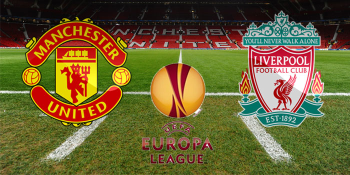 Manchester United play Liverpool in one of the Europa League second legs