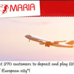 First 270 Players to Deposit and Wager £100 Win a Return Flight to Any European City