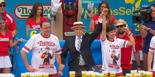 Matt Stonie Hot Dog Eating Champion