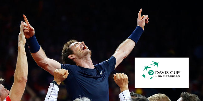 Andy Murray winning the 2015 Davis cup tennis world group