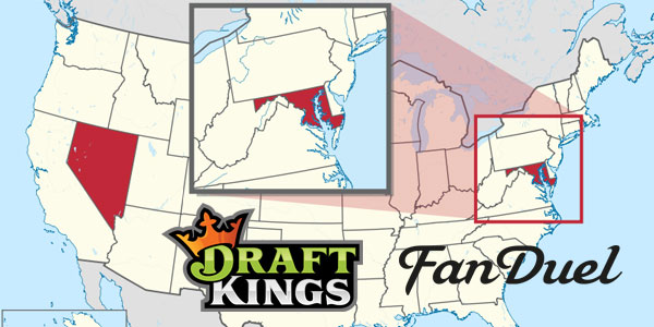 DFS Legal Troubles in Nevada and Maryland for DraftKings and FanDuel daily fantasy sports operators