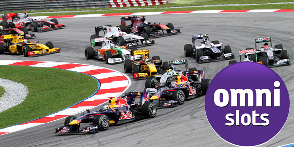 OmniSlots Casino Formula 1 Giveaway Package