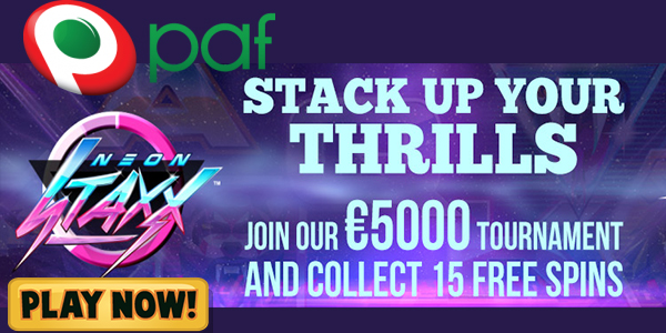 Win Up to EUR 5,000 on the Paf Casino Tourney