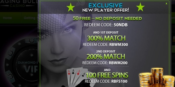 Raging Bull Casino Exclusive Free Spins