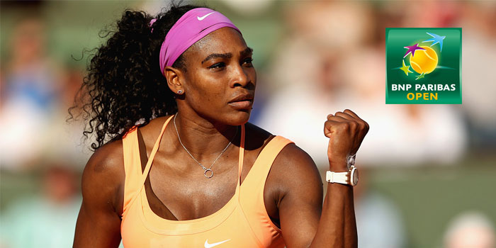 Serena Williams will play the BNP Paribas Open at Indian Wells