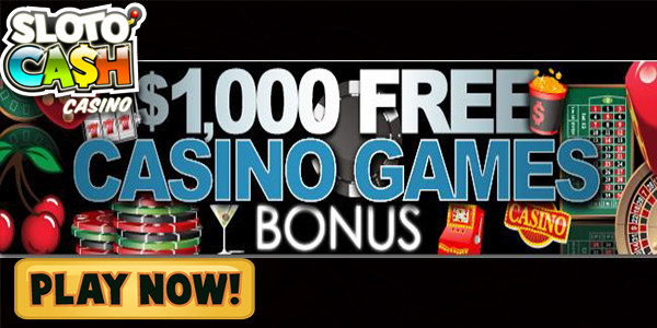 SlotoCash Casino USD 1,000 Match Bonus