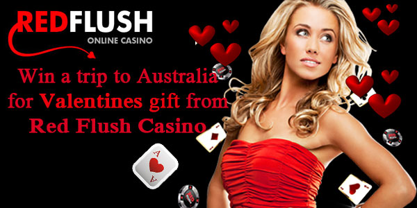 Win a trip to Australia for Valentines gift from Red Flush Casino
