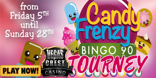 Win Awesome Prizes at Vegas Crest Casino's Candy Frenzy Tourney