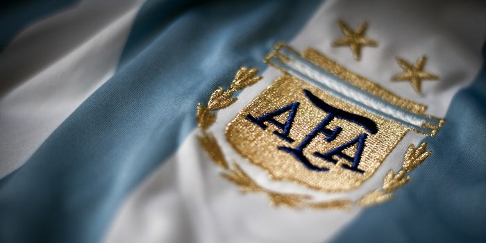 Argentina football soccer jersey with embroided logo