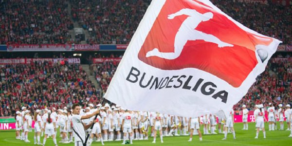 Bundesliga, waving banner, German football
