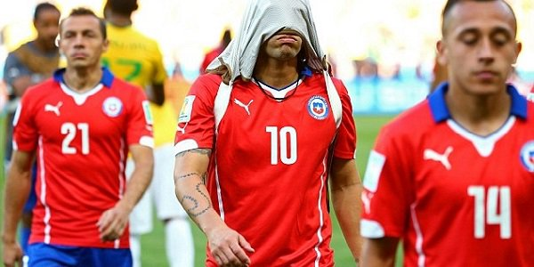 Chile got beaten