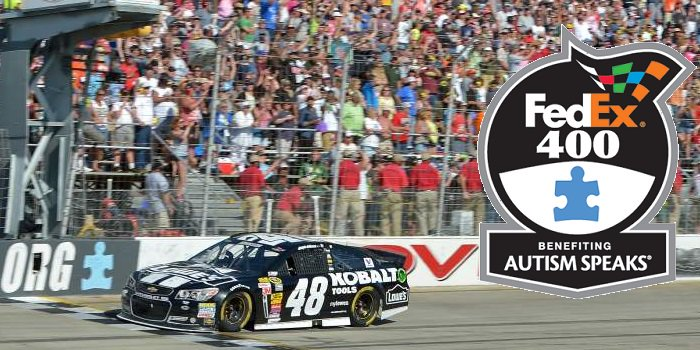 NASCAR Dover FedEx 400 Autism charity race